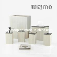 Set de baño de bambú blanco lavado (WBB0450A)
