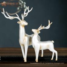 Estátuas de cervo de resina de tamanho natural decorativo de interiores personalizados