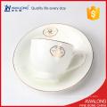Osso de porcelana xícaras de chá de uso de restaurante com copos de chá de design simples para promoção de venda