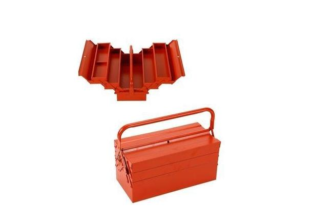 3 layer tool box red