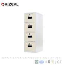 Orizeal fornecedor chinês vertical armário de armazenamento militar de metal 4 gaveta do armário de arquivo (OZ-OSC021)