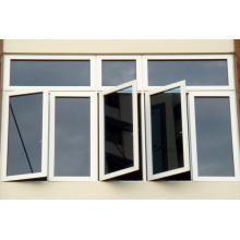 Double Panels Low E Glass PVC Casement Window