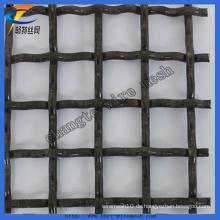 Hochwertige schwarze Stahldraht gecrimpt Mesh (Fabrik)