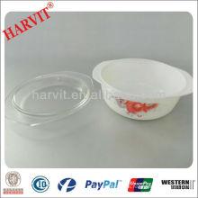 Importador Artículos para el Hogar Vintage Pyrex Libbey Decorativo Vidrio Opal Cazuela Plato Con Tapa