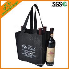 Pack sac de bouteille de vin rouge non-tissé écologique en gros 6