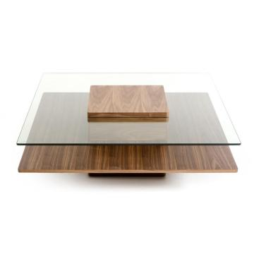 Contemporary coffee tables walnut coffee table