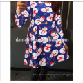 2017 winter new Christmas clothing explosion models ladies cartoon snowman pattern printing dress