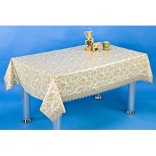 PVC Printed Transparent Tablecloth with Nt Pattern (NT0005)