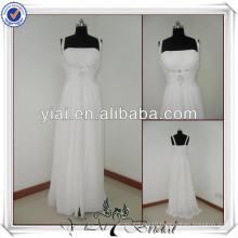 JJ2207 Beach Chiffon A-line No Tail Wedding Dresses For Older Brides