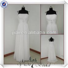 JJ2207 Beach Chiffon A-line No Tail Vestidos de casamento para noivas mais antigas