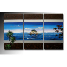 Pintura a óleo famosa da paisagem do Triptych