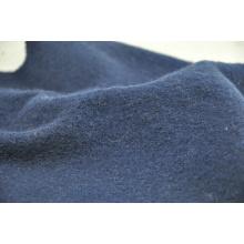 Tela de lana hervida de color azul marino tela de lana al por mayor