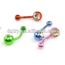 Edelstahl einzigartige farbig überzogene Bauchnabelringe Piercing