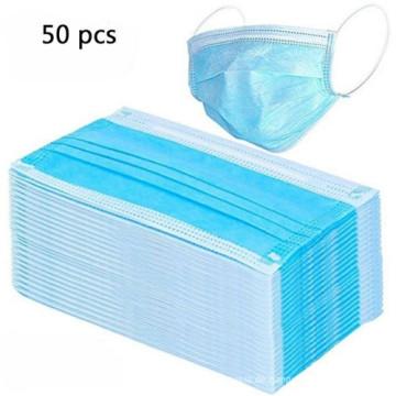 50er Pack 3-lagige Einweg-Gesichtsschutzmasken