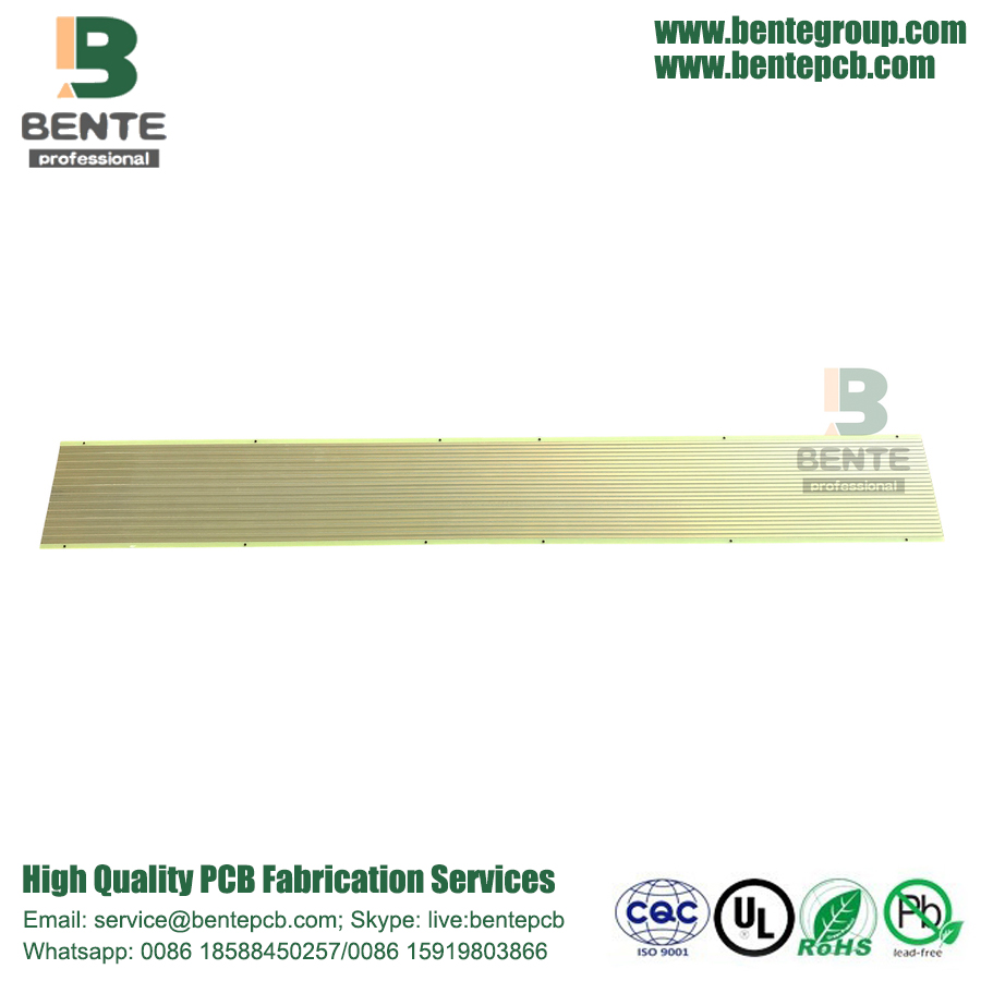 Long Strip 2 Layers PCB FR4 Tg135 PCB Low Cost PCB ENIG