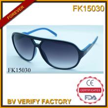 Gafas de sol de marco de la PC de costura (FK15030) de dos colores