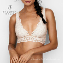 Pretty soft lace deep V crop 32 size bra pictures hot images women pictures of women in lace underwear