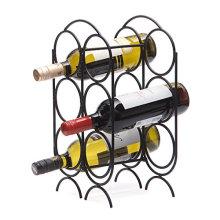 Home decor or restaurant use countertop wine bottle holder wine rack shelf