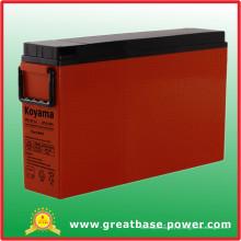 175A 12V Terminal frontal AGM Bateria para sinal de estrada de ferro
