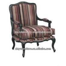 Tissu à rayures élégant beauté Chaise sofa de salon XF1013