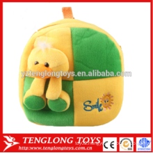 yellow duck plush toy kids school bags