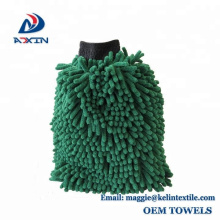 Alibaba China custom special microfiber chenille car cleaning gloves wash mitt