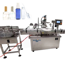 Manufacture auto 5-30ml PET plastic spray round bottle filling capping labeling machine