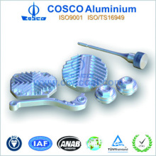 Extruded Aluminium Alloy auto parts with CNC machining and anodizing