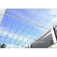 Hoja hueco de policarbonato hueco hojas de techos transparentes utilizados para garaje
