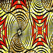 Afrika Block gedruckt Super Hollantex Wachs Polyester Stoff