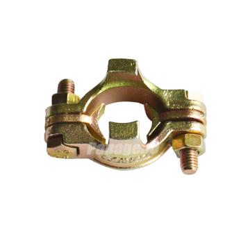 Abrazadera de manguera de doble tornillo Zn de acero al carbono