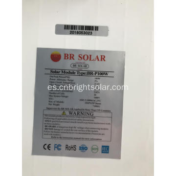 Panel solar fotovoltaico 100w venta al por mayor