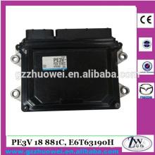 Carro de qualidade superior ECU Unidade de Controle Eletrônica para Mazda PE3V-18-881C / PE3V 18 881C, E6T63190H