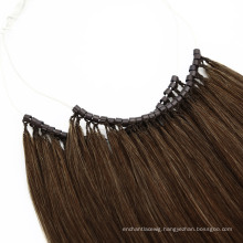 Top Quality Brazilian Human Virgin Remy Hair No Tip Hair Extension with Micro Ring