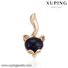 32863 Xuping pingente de ouro na moda incrustada com opala azul escuro trabalho imitação jewelley de casa