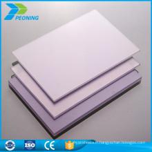 Vente en gros de bon marché à chaud 10 mm plastique polycarbonate carré prismatique
