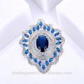 Oval Sapphire Brosche Kostüm Brosche Form China Lieferant