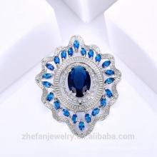 Broche de saphir ovale costume broche forme fournisseur de la chine