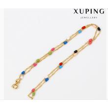 43080 Moda Xuping Charme banhado a ouro colar de jóias em vendas quentes