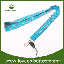 Silk screen polyester business card holder lanyard