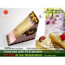 Plus récent emballage de boîte de restauration rapide avec fenêtre anti-buée