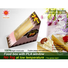 Newest Fast Food Box Packaging with Anti-Fog Window