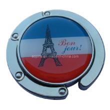 Metal de señora bolso gancho en logotipo impreso con epoxi (bolso hanger-02)