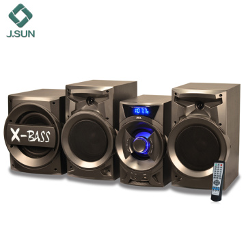 Home theater system with bluetooth speakers