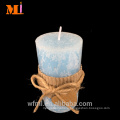 Experienced Supplier Home Use Light Blue Vanilla Flavor Assorted Sizes COUNTRY STYLE Pillar Candles Cheap Bulk