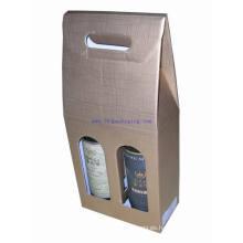 Papel de impresión personalizado de promoción de dos botellas caja de vino