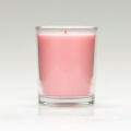 Romantic Rose Scent Soy Wax Glass Jar Candle