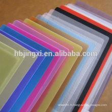 Feuille de plastique de polyéthylène de feuille de polyéthylène colorée