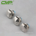 22mm NO SPST Botones momentáneos de metal