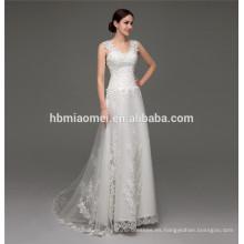 Vestido de novia nupcial de sirena vestido de encaje transparente transparente para una boda de día